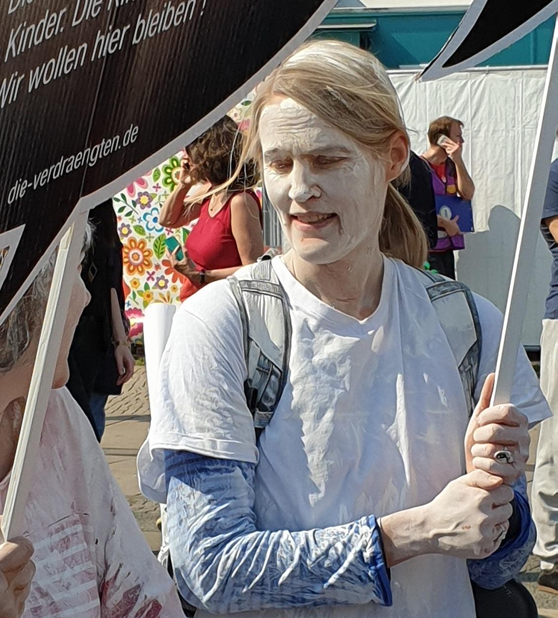 Manifestante a Berlini