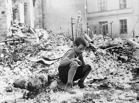 Polish kid in the ruins of Warsaw September 1939 cover